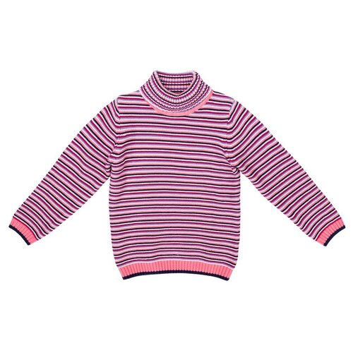Купить Свитер playToday размер 116, розовый/белый/синий, Свитеры и кардиганы
