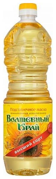 Волшебный край Масло подсолнечное рафинированное дезодорированное