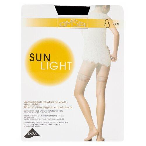Чулки Omsa Sun Light Aut 8 den, размер 4-L, nero (черный) колготки omsa superlativa sun 8 den размер 4 l nero черный