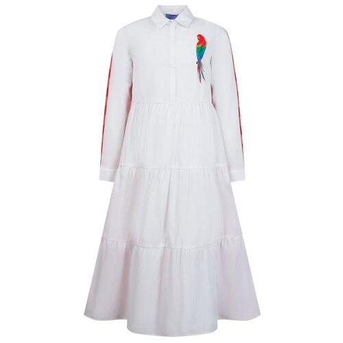 Платье Stella Jean размер 140, белый/красный/клетка