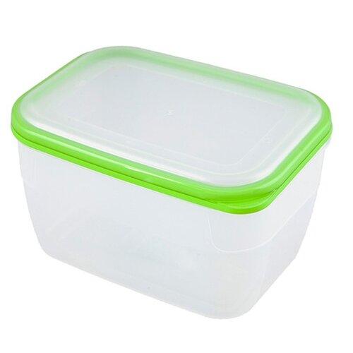 Фото - ПОЛИМЕРБЫТ Контейнер Премиум для СВЧ 2.4 л зеленый/прозрачный контейнер полимербыт профи kids 32х14х38 см 50001 красный зеленый желтый