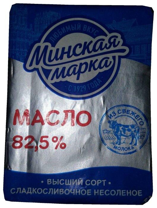Минская Марка масло сладкосливочное несоленое 82.5%, 180 г