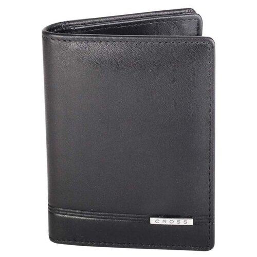 Обложка для кредитных карт Cross Classic Century, кожа наппа, гладкая, чёрный, 8 х 2 х 10,5 см AC018387-1