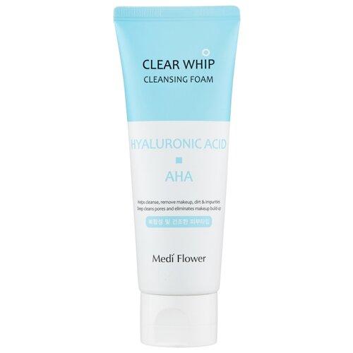 Купить Medi Flower пенка для умывания с гиалуроновой кислотой и AHA кислотами Whip Cleansing Foam Hyaluronic Acid, 120 мл