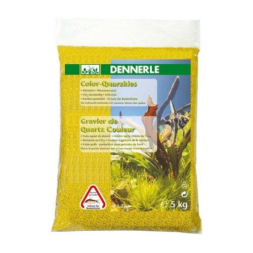 Грунт Dennerle Color Quarz 1-2 мм, 5 кг желтый