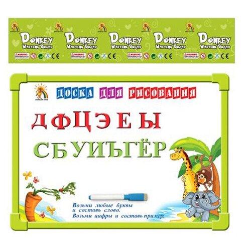 Купить Доска для рисования детская Shantou Gepai двухсторонняя магнитная с алфавитом (G9114-2) зеленый, Доски и мольберты