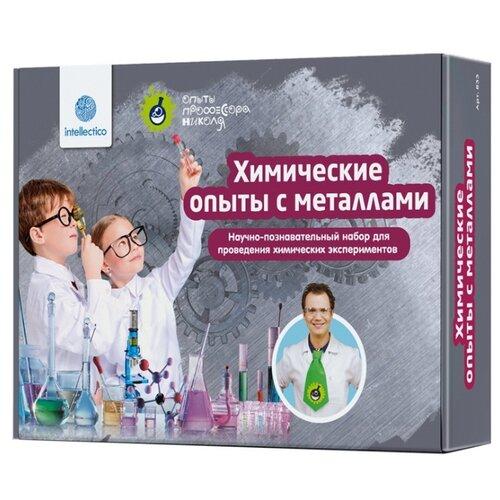 Набор для исследований Intellectico Опыты профессора Николя. Химические опыты с металлами (833) набор для творчества intellectico мерцающий маникюр 26548
