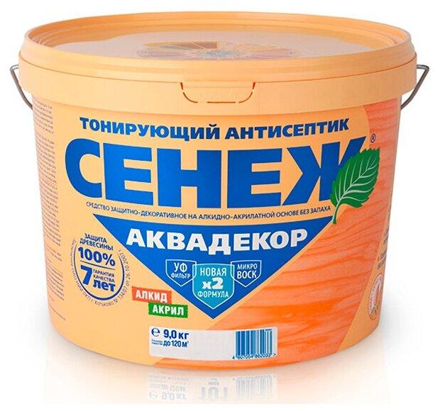 Сенеж Аквадекор - тонирующий антисептик для древесины, 119 Палисандр 9 кг