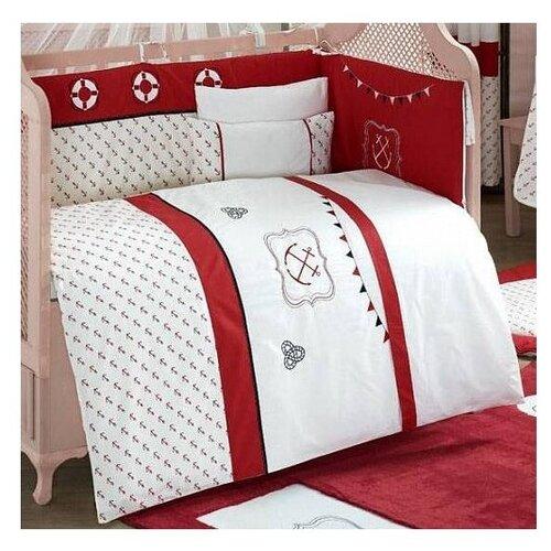 Купить Комплект из 6 предметов серия Ocean (Red), Kidboo, Постельное белье и комплекты