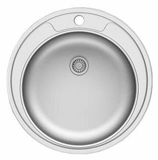 Врезная кухонная мойка Asil E IN001 / AS 01 48х48см нержавеющая сталь
