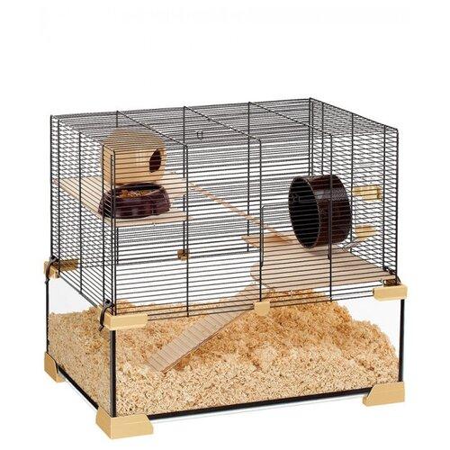 Фото - Клетка для грызунов Ferplast Karat 60 59.5х39х52.5 см прозрачный/черный клетка для грызунов ferplast criceti 9 princess 46х29 5х23 см розовый