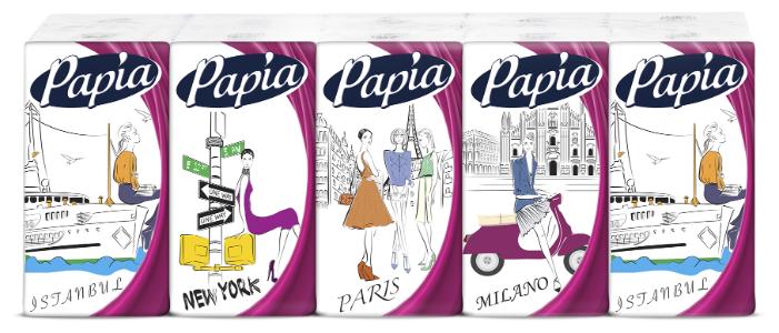 Платочки Papia Classic 21 х 21 см