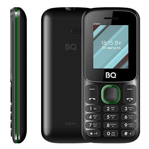Телефон BQ 1848 Step+, черный / зеленый сотовый телефон bq 1848 step black