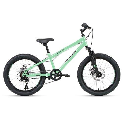 """Подростковый горный (MTB) велосипед ALTAIR MTB HT 20 2.0 Disc (2020) мятный/черный 10.5"""" (требует финальной сборки)"""