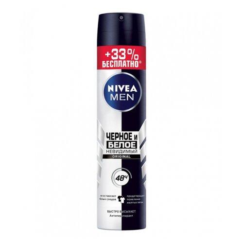 Дезодорант-антиперспирант спрей Nivea Men Невидимый для черного и белого, 200 мл дезодорант антиперспирант kobayashi