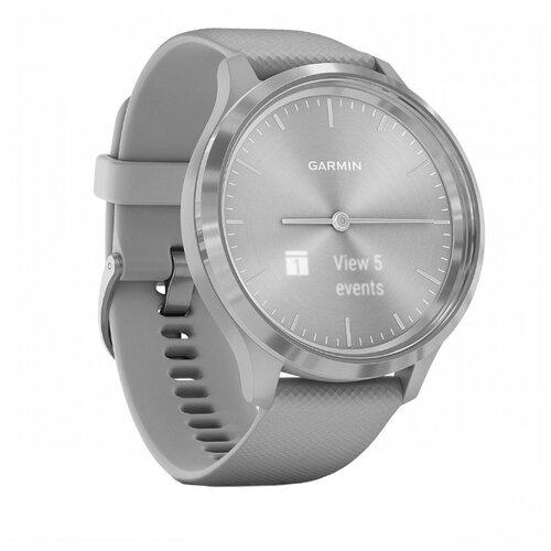 Часы Garmin Vivomove 3 серый/серебристый умные часы garmin vivomove 3 черные с черным силиконовым ремешком