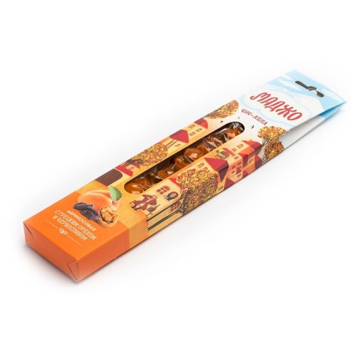 Чурчхела МАДЖО абрикосовая с грецким орехом и черносливом 80 г