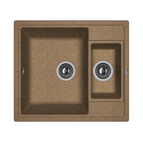 Врезная кухонная мойка 58 см FLORENTINA Липси-580К FG коричневый врезная кухонная мойка 58 см florentina липси 580к мокко