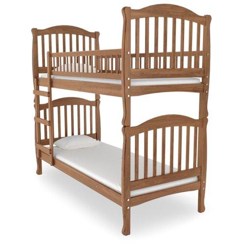 Двухъярусная кровать детская Nuovita Altezza Due, размер (ДхШ): 198х93 см, спальное место (ДхШ): 190х80 см, каркас: массив дерева, цвет: ciliegio