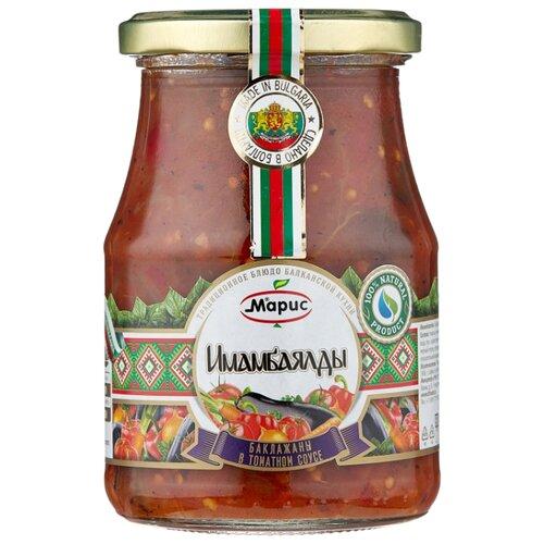 Имамбаялды баклажаны в томатном соусе Марис стеклянная банка 350 г баклажаны жареные noyan с черносливом в томатном соусе 560 г