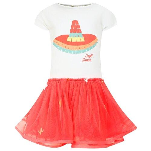 Платье Billieblush размер 116, двухцветный/розовый/белый