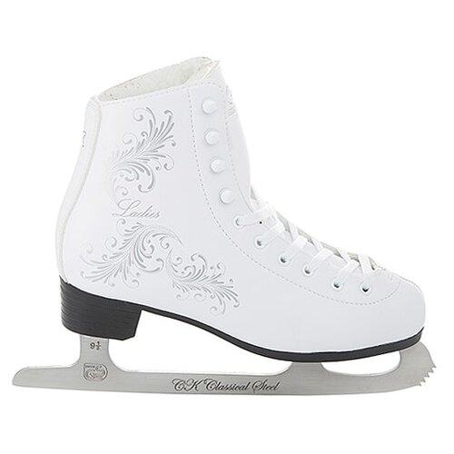 Фигурные коньки СК (Спортивная коллекция) Ladies Fur Classic белый р. 32