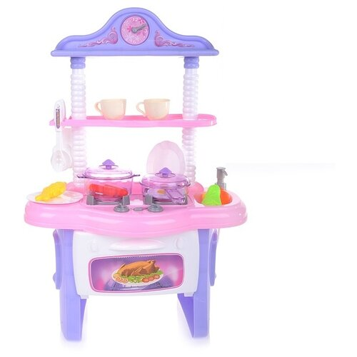 Кухня Yako Кухня как у мамы M7115-2 розовый/фиолетовый/белый