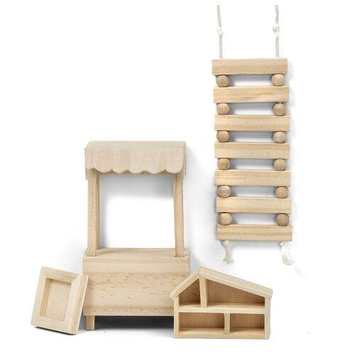 Купить Lundby Набор мебели для кукольного домика Сделай сам Детская (LB_60906500) натуральный, Мебель для кукол