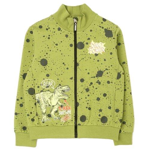 Купить Олимпийка crockid размер 98, зеленый/брызги краски, Толстовки