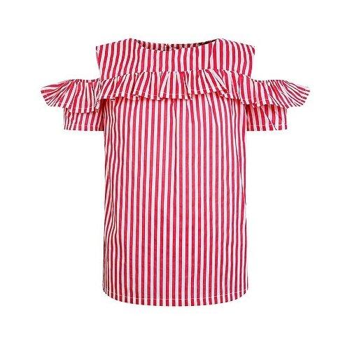 Блузка Mayoral размер 134, белый/красный