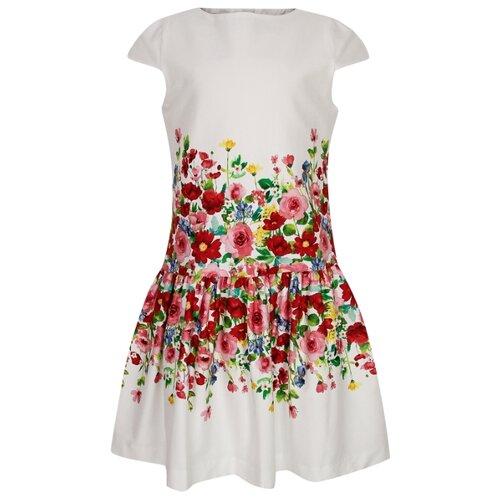 Платье Mayoral размер 92, белый/цветочный принт платье mayoral размер 92 белый розовый