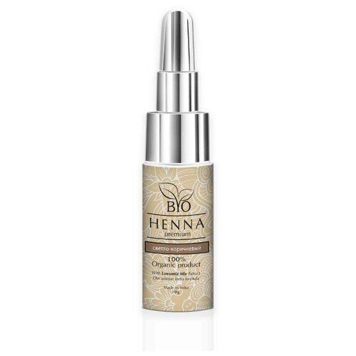 Bio Henna Хна для бровей во флаконе, 10 г светло-коричневый
