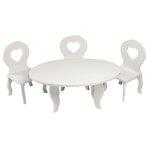 Купить PAREMO Набор мебели для кукол Шик (PFD120-49/PFD120-51/PFD120-48/PFD120-50/PFD120-47) белый, Мебель для кукол
