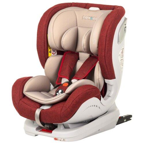 Автокресло группа 0/1/2 (до 25 кг) TOREGO Drive Isofix, красный/лен автокресло группа 1 2 3 9 36 кг little car ally с перфорацией черный