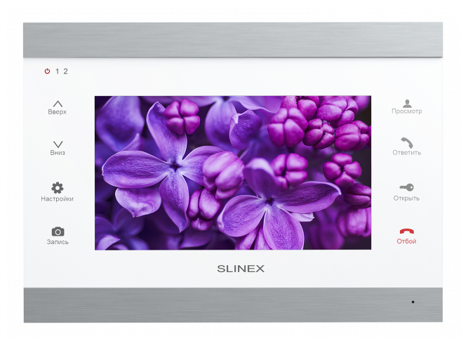 Домофон (переговорное устройство) Slinex SL-07IP (silver + white) белый (домофон)