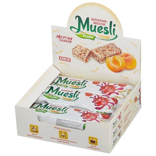Злаковый батончик Muesli plus в белой глазури Клюква, 6 шт