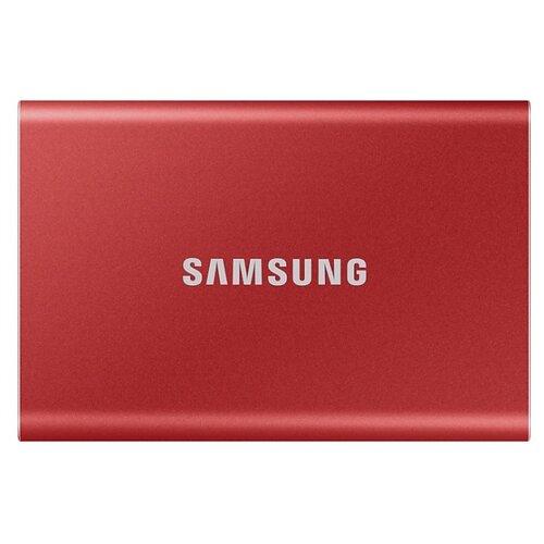 Внешний SSD Samsung Portable SSD T7 500 ГБ красный