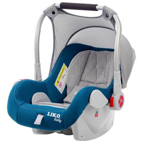 Купить Автокресло-переноска группа 0+ (до 13 кг) Liko Baby CRIB LB-321, синий, Автокресла