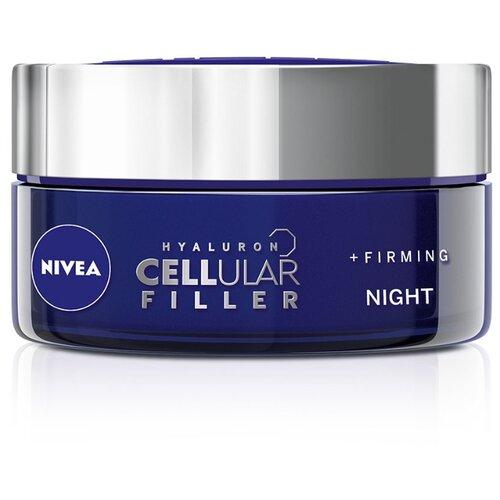 Крем Nivea Hyaluron Cellular Filler ночной, 50 мл крем nivea hyaluron cellular filler ночной 50 мл