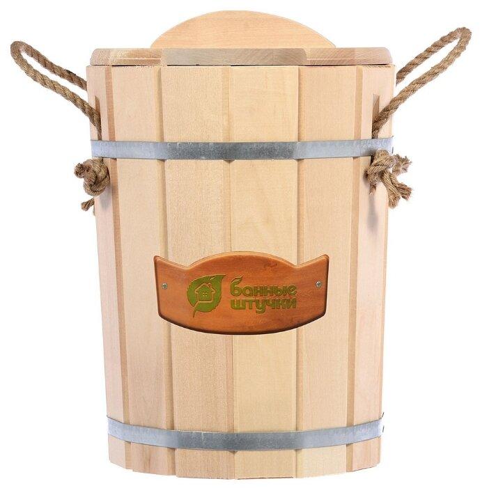 Банные штучки Запарник с пластиковой вставкой с крышкой 9 л