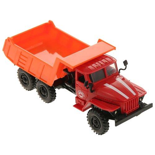 Грузовик Play Smart Автопарк (9493) 1:43 19 см оранжевый/красный грузовик play smart автопарк урал аварийная служба 9464a 25 см оранжевый