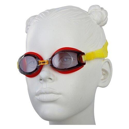 Очки для плавания Larsen DR5 черный/красный цена 2017