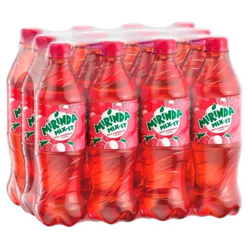 Газированный напиток Mirinda Mix-It Клубника-Личи, 0.5 л, 12 шт.Лимонады и газированные напитки<br>
