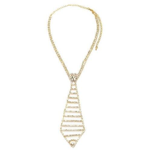 Ann Devine Галстук из золотистых кристаллов Executive Rhinestone Tie 26см