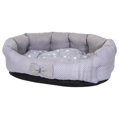 Лежак для собак и кошек HutPets MiniCot M 70х50 см Gray Peas