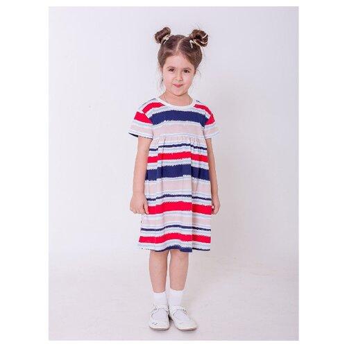 Платье Paprika размер 116-122, белый/красный/синий