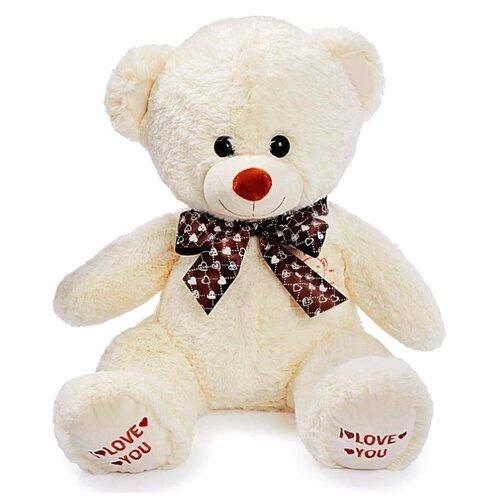 Купить Мягкая игрушка «Медведь Топтыжка», цвет молочный, 70 см, ЛюбиМая игрушка, Мягкие игрушки
