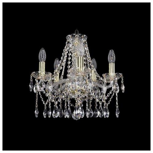Люстра Bohemia Ivele Crystal 1413/5/141/G, E14, 200 Вт люстра bohemia ivele crystal 1413 1413 6 141 g leafs e14 240 вт