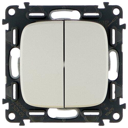 Выключатель 2х1-полюсный Legrand Valena Allure 752905,10А, алюминиевый выключатель 2х1 полюсный legrand valena allure 752905 10а алюминиевый
