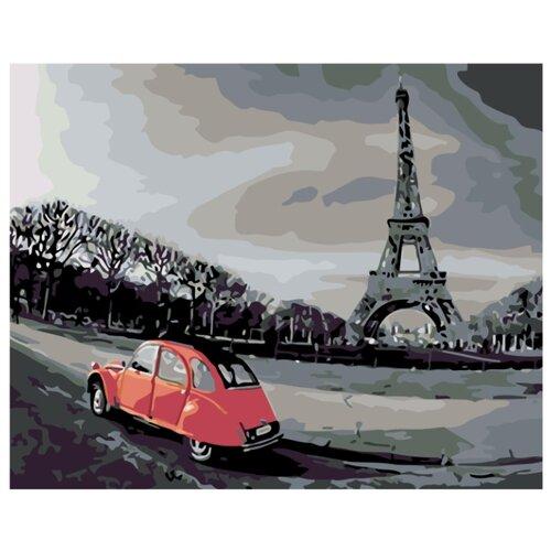 Прогулка по Парижу Раскраска по номерам на холсте Живопись по номерам